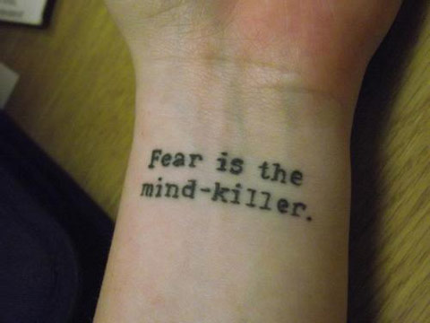 fear mind killer quote tattoo