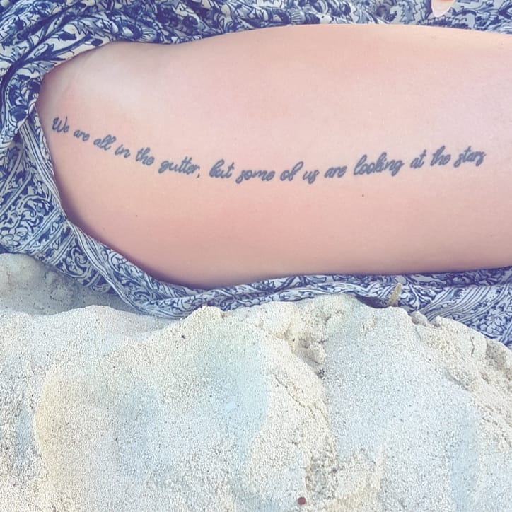 tattoo quotes on thigh girl