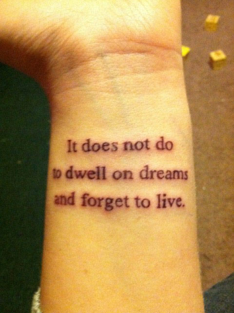 dreams quote tattoo