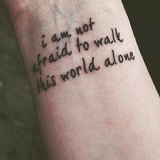 wrist tattoo quote