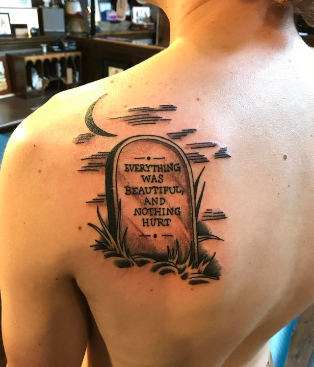 everything was beautiful and nothing tattoo quote